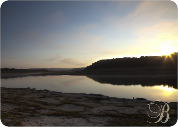 Sunrise during the drought Lake Travis, Spicewood Texas