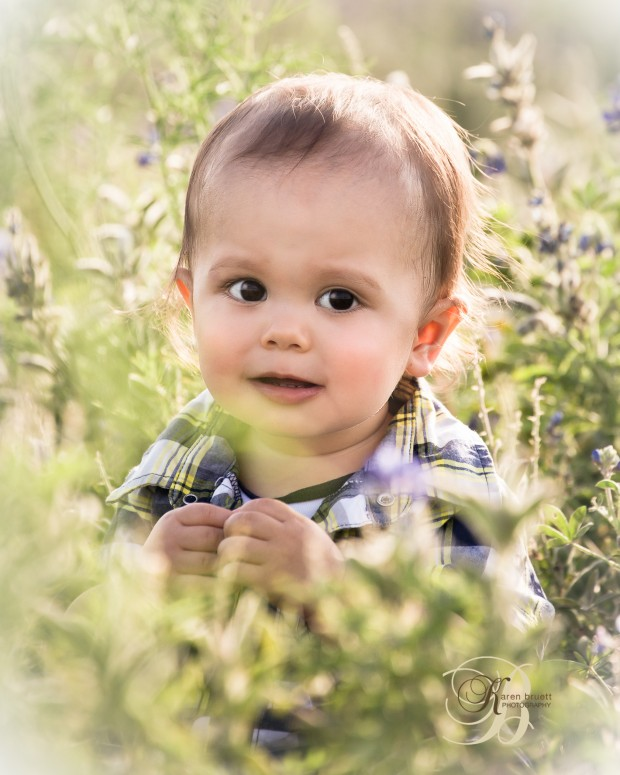 Child Portrait, Outdoor, Bluebonnets